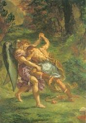 Eugène Delacroix: Giacobbe lotta con l'angelo